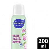 Monsavon déodorant spray au lait douceur naturelle pierre d'alun lait & fleur de lotus 200ml
