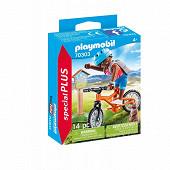 70303 Cycliste avec marmotte