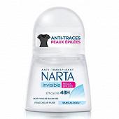 Narta femme deodorant bille peaux epilees 48h 50ml