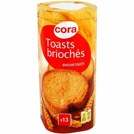 Cora toasts briochés nature 125 g