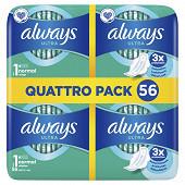 Always ultra serviettes hygieniques ailettes t1 normal plus 56ct