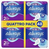 Always ultra serviettes hygieniques ailettes taille 2 long plus 48ct