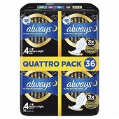 Always ultra serviettes hygieniques ailettes taille 4 secure night 36ct