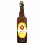 """Bière la rouget de lisle """"blanche des plateaux """" 75 cl 4.8% Vol."""