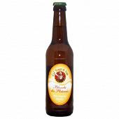"""Bière  la rouget de lisle """"blanche des plateaux """" 33 cl  4.8 % Vol."""