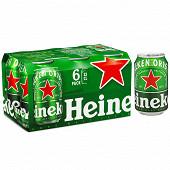 Heineken bière blonde premium can 6x33cl 5%vol