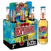 Desperados lime bière aromatisée téquila 6x33cl 3%vol