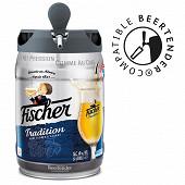 Fischer tradition bière blonde d'Alsace fût 5L 6%vol