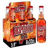 Desperados red bière aromatisée téquila, cachaça, guarana 6x33 cl 5,9% Vol.