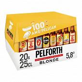 Pelforth blonde pack 20 x 25cl 5.8% vol
