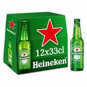 Heineken bière blonde premium 12x33cl 5%vol