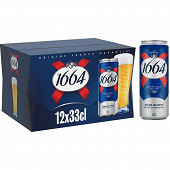 Kronenbourg can 1664 12x33cl 5.5%vol