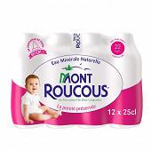 Mont Roucous eau minérale naturelle 12x25cl pack baby max