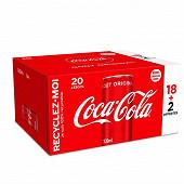 Coca-cola boite sleek 20x33cl 18+2boites offertes