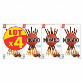 Mikado chocolat au lait lot de 4 x90g
