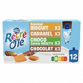 Récré olé multivariétés biscuit/caramal/choco noisette/chocolat 12x85g