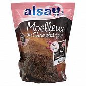 Alsa prêt à cuire préparation gâteau moelleux chocolat 500g