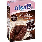 Alsa préparation gâteau moelleux chocolat 435g