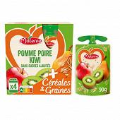 Materne ssa pomme poire kiwi céréales & GRAINES 4x90g