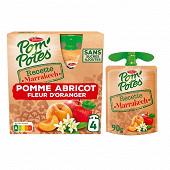 Pom'potes marrakech pomme abricot touche d'oranger 4x90g