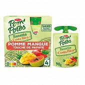 Pom'potes costa rica pomme mangue touche de papaye 4x90g