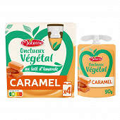 Materne onctueux vegetal caramel 4x85g