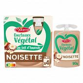 Materne onctueux vegetal noisette 4x85g