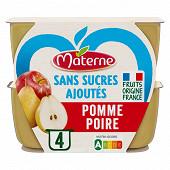 Materne sans sucre ajoutés pomme poire 4x100g