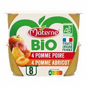 Materne bio ssa pomme abricot / pomme poire 8x100g