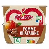 Materne coupelles pomme châtaigne 4x100g