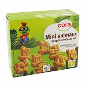 Cora biscuit ludique mini animaux nappés chocolat lait 160g
