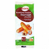 Cora madeleines longues fourrage chocolat 240g