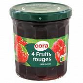 Cora confiture de 4 fruits rouges 370g