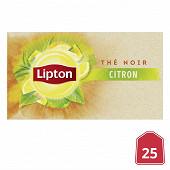 Lipton thé noir citron x25 40g