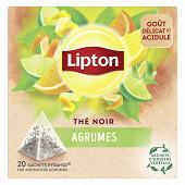 Lipton thé noir agrumes pyramides x20 36g