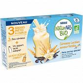 Nestle naturnes bio briques lait prêtes à l'emploi saveur vanille 3x25cl