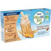 Nestle naturnes bio briques lait prêtes à l'emploi saveur biscuit 3x25cl