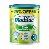Modilac lait bio croissance sans huile de palme 12 mois 800g+25% offert