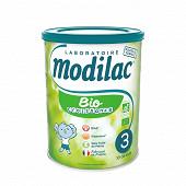 Modilac lait bio croissance 3 de 10 à 36 mois 800g
