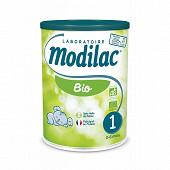 Modilaclait pour nourissons en poudre bio 1er age 800g