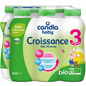Candia baby lait croissance 3 bio bp 1l x6