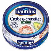 Nautilus duo crabe et crevettes 105g