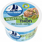 Petit Navire rillettes de thon olives vertes 125g