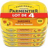 Parmentier sardines huile 135 g lot de 4