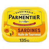 Parmentier sardines huile de tournesol 135 g
