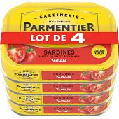 Parmentier sardines tomate 135g lot de 4