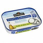 Connetable 1/7 filets de sardines msc à l'huile d'olive vierge extra bio 90g
