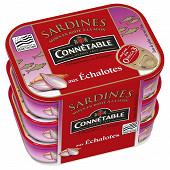 Connétable 1/5 sardines à l'huile d'olive et aux échalotes de Bretagne 135g  lot de 3