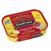 Connétable 1/5 sardines à l'huile d'olive vierge extra et au citron 135g