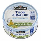 Connetable thon msc à l'huile d'olive vierge extra bio 160g